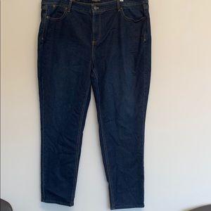 Talbots flawless five-pocket slim ankle jeans 20W